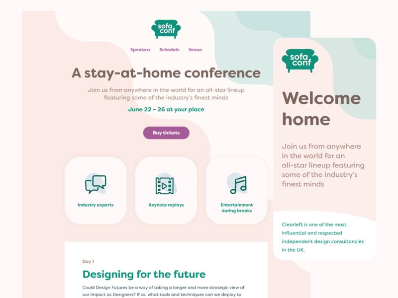 Sofaconf visual direction teamwork multiplayer figma web design visual design