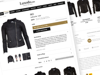 WIP luxodo.com product page (again)