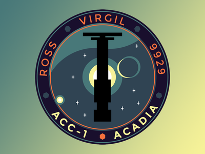 Acadia: Mission Patch acadia illustration illustrator patch emboidery sci-fi space james erwin rome sweet rome