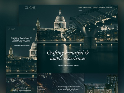 WIP website web clean simple architecture ux ui responsive front-end passion beautiful experience web design