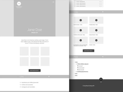 Wireframing: Desktop desktop web design layout ui wireframe minimal clean flat responsive illustrator
