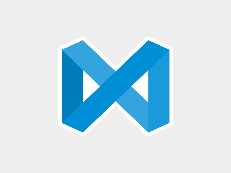 Visual Studio Code replacement icon photoshop illustrator blue loop mac visual studio code icon