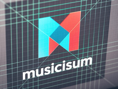 Musicisum Logo musicisum music illustrator layout grid logo