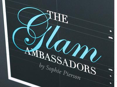 """The Glam Ambassadors"" logo makeup glam illustrator grid logo"