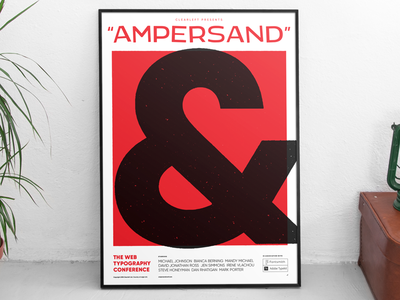 Poster design: Ampersand 2018: The web typography conference