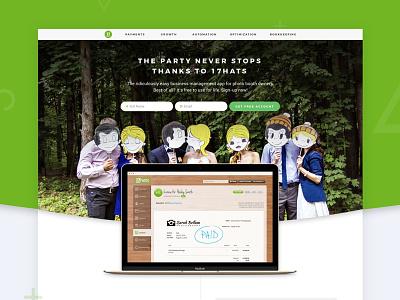 17hats Landing Page landing page graphic design web design desktop retina responsive web branding