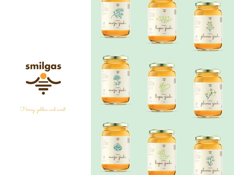 Smilgas - honey brand packaging