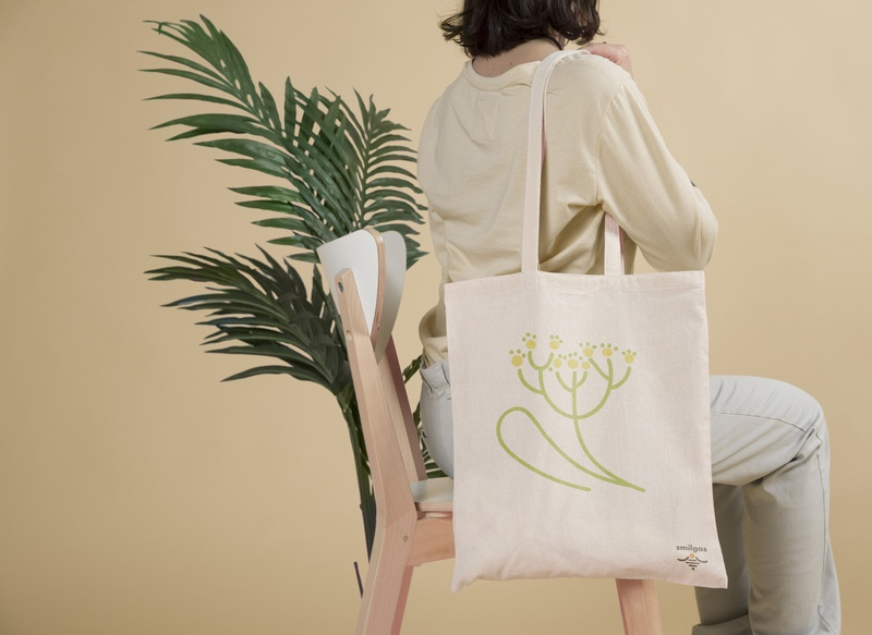 Tote bag with illustration illustraion
