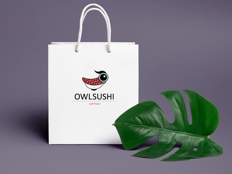Owlsushi logo covid-19 illustrator logodesign