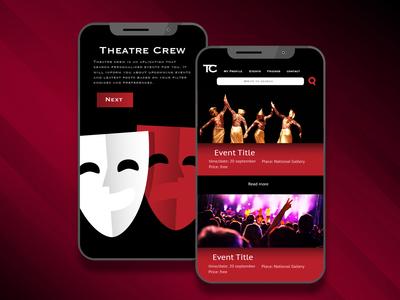 Theatre Crew app design