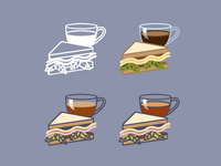 Lunch icon evolution