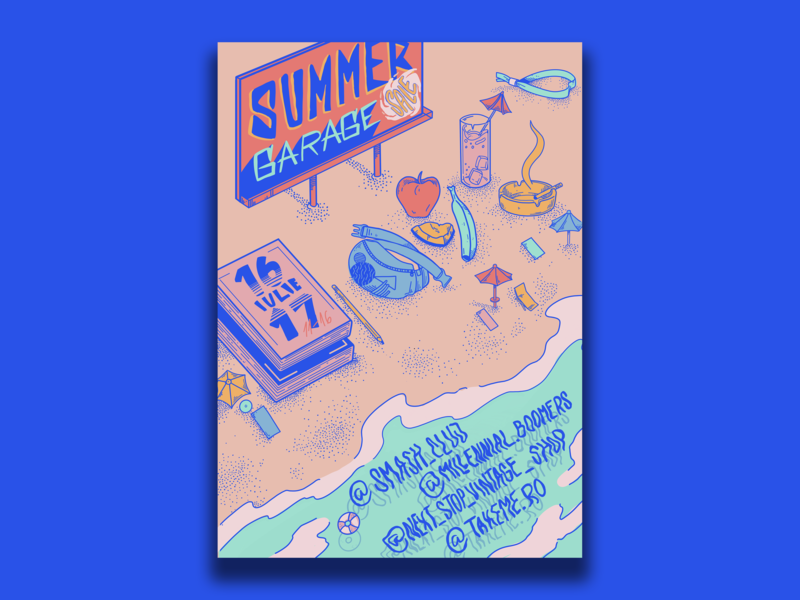 Poster for Garage Sale summerposter summer drawing procreate art artworks garagesale poster a day poster art typography design vector illustration poster design artwork poster