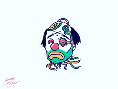 Sad Clown Illustration