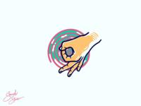 Trippy Hand Illustration