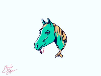 High Horse Illustration