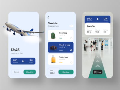 Mobile App Concept – Airline company