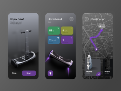 Hoverboard Interaction App