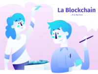 La Blockchain — Hero Illustration