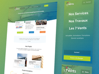 Les 7 Vents — Homepage Design