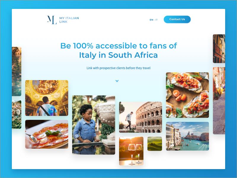 My Italian Link — Sponsors Landing | Search by Muzli