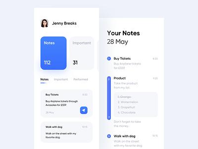 Notes App notes mobile minimal app liquid ux flat ui logo design