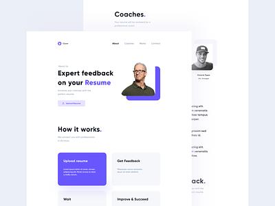 Clyver - Landing Page blue landing web ux design ui mobile minimal flat app
