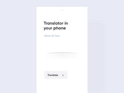Translate App hiwow translate ux design ui mobile minimal flat app