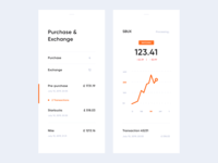 Stocks App hiwow dashboard app crypto exchange crypto bank bank app cards dashboard web ux design ui mobile minimal flat app