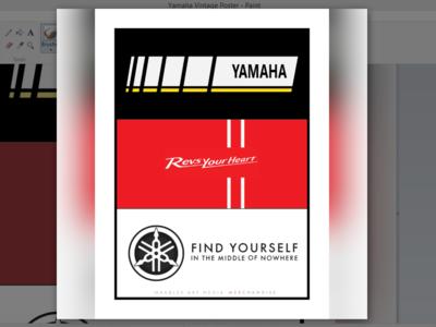 Yamaha Vintage Poster