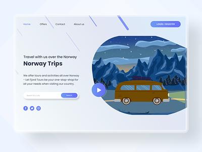 website for Norway Trips webdesign clean design clean ui landing page website
