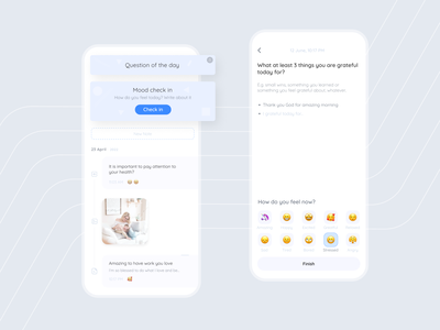 Journaling for pregnant & mothers app ui clean design clean ui mood check in note write tracker anxiety journal journaling