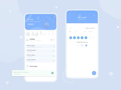 Habit tracker routine todolist to do app ui clean design clean ui habits habit tracker