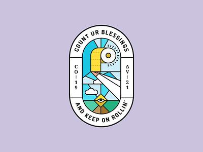 Δ vector badge illustration