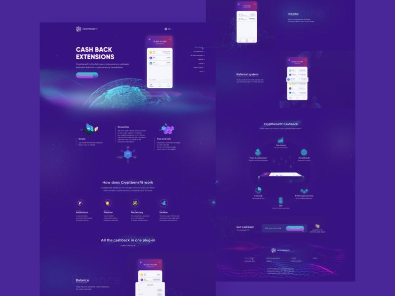 Dribble cashback design interface cryptocurrency crypto ux ui web webdesign
