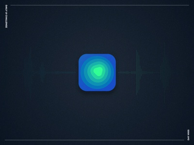 Appicon seismograph light dark detail bold colors appicon challenge ui daily ui challenge