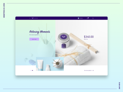 E-Commerce Shop web cosmetic grid bold gradient shop e-commerce challenge ui daily ui challenge