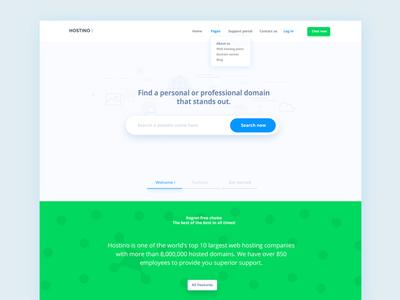 Hostino Web Hosting Landing Page - Full Home Page Design