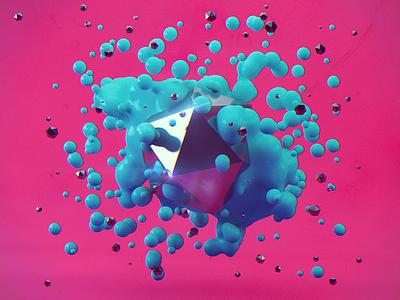 Platonic splash abstract cinema4d 3d