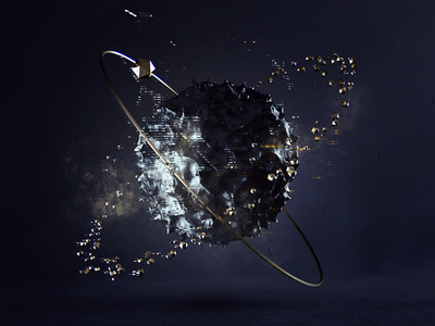 Globe planet abstract space sphere globe 3d cinema 4d