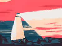 Lighthouse rock drawing sketch brush procreate app illustration procreate night light ocean sea lighthouse