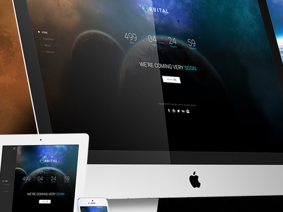 Orbital - Responsive Timer Coming Soon Template