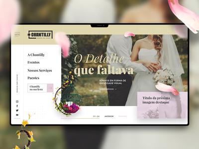 Branding website interface for weddings