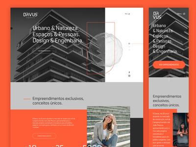Ui Design - WebSite Davus Construtora