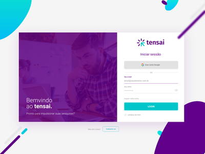 Login page for web system
