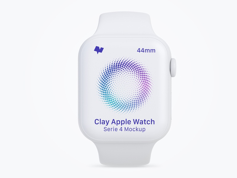 Clay Apple Watch Series 4 (44mm) Mockup, Front View clay psd mockup logo ui psd template psd download design psd mockup mockups apple watch apple