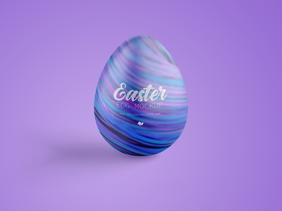 Easter Egg Mockup, Front View