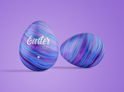 Easter Egg Mockup, Front View 02