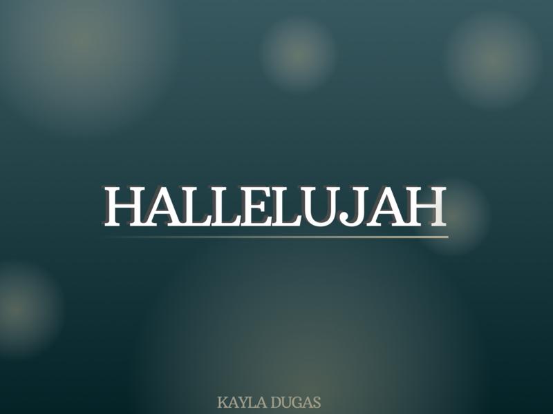 Hallelujah graphicdesign music cover album art hallelujah