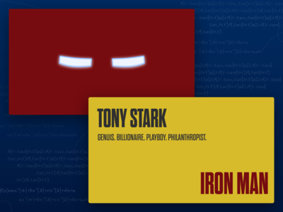 Iron Man Business Card