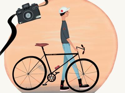 Boy with a bike